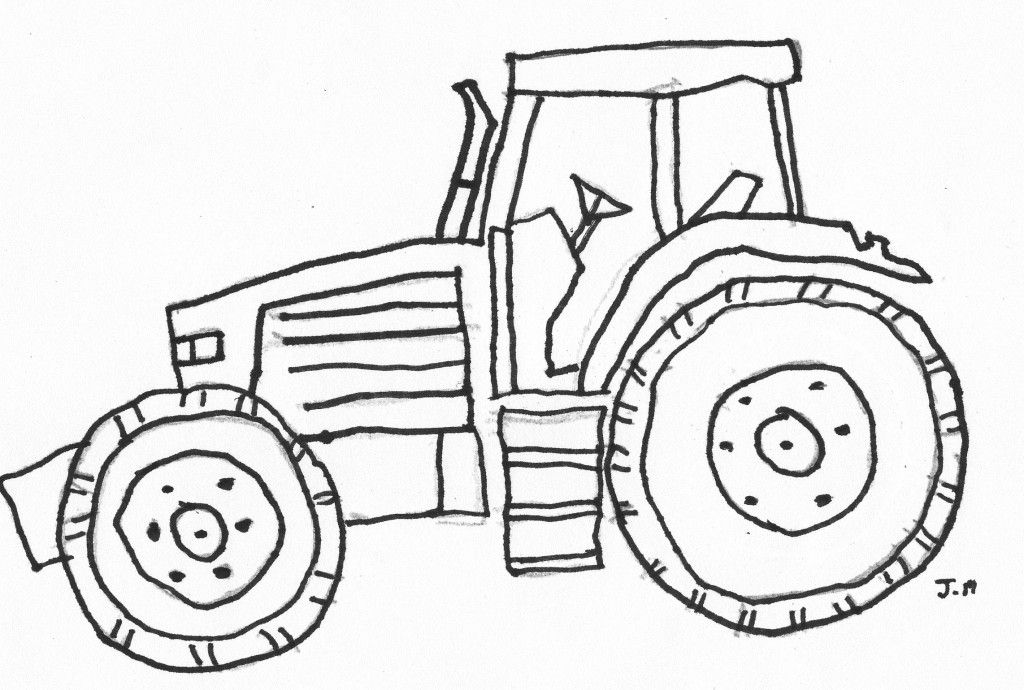 John Deere Tractor By Number Pages Coloring Pages
