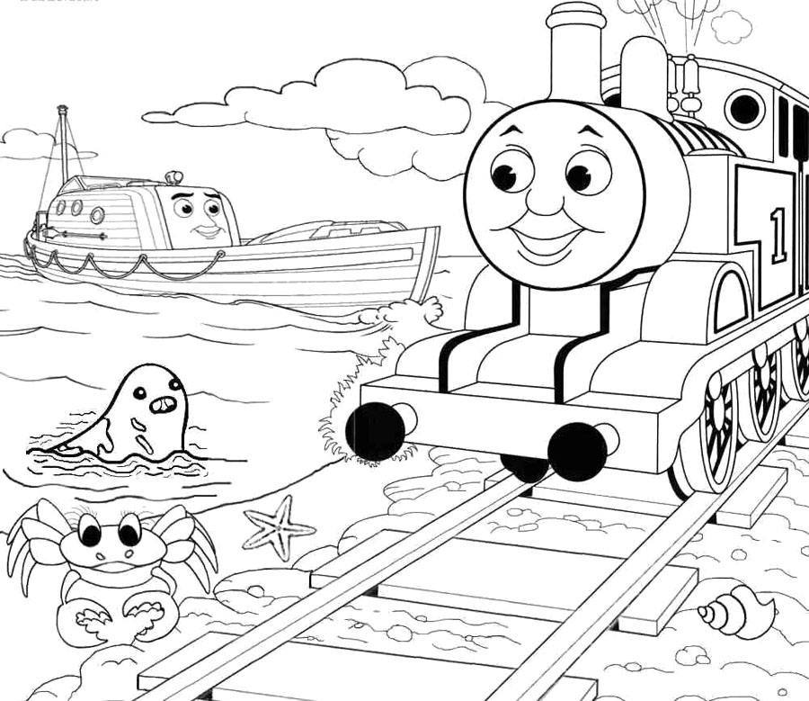 thomas friends coloring pages free - photo#29