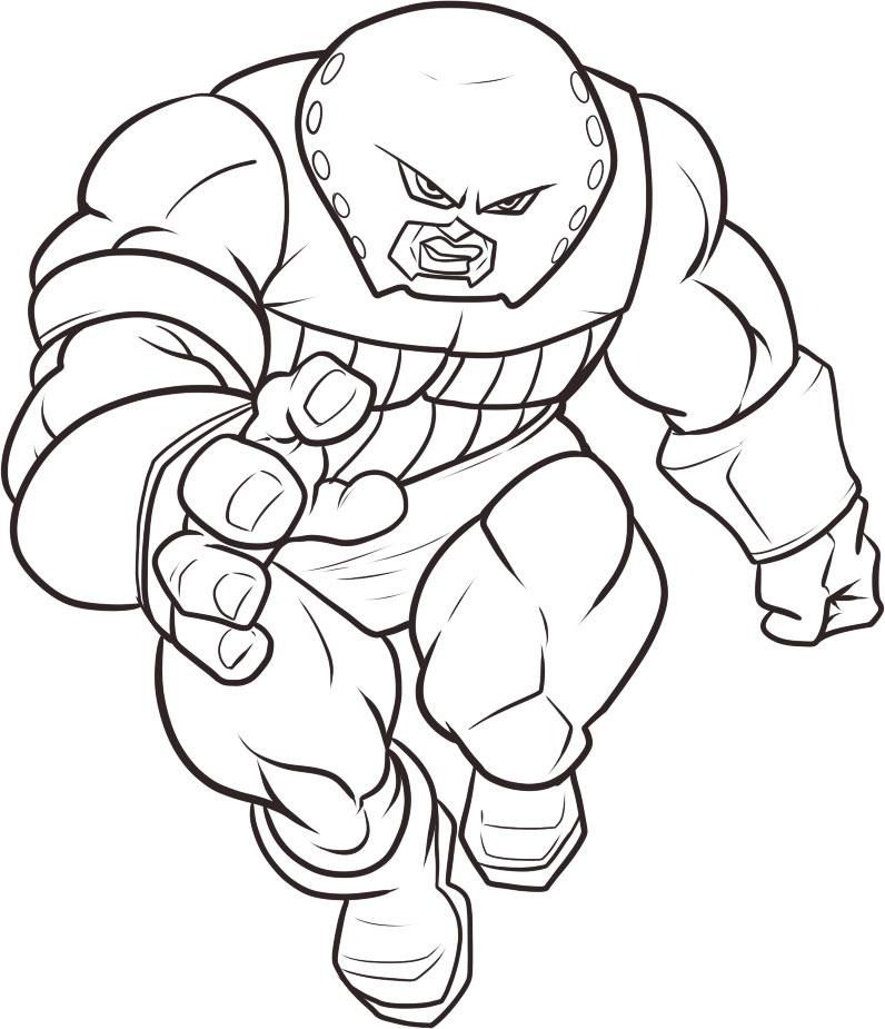 comic book character coloring pages - photo#11