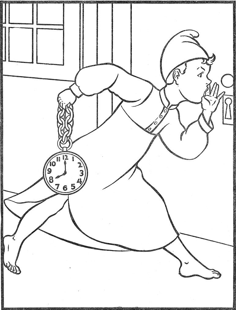 Wee Willy Winky Colouring Pages