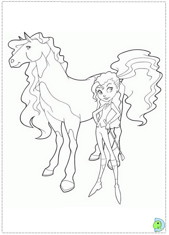 horseland coloring book pages - photo#18