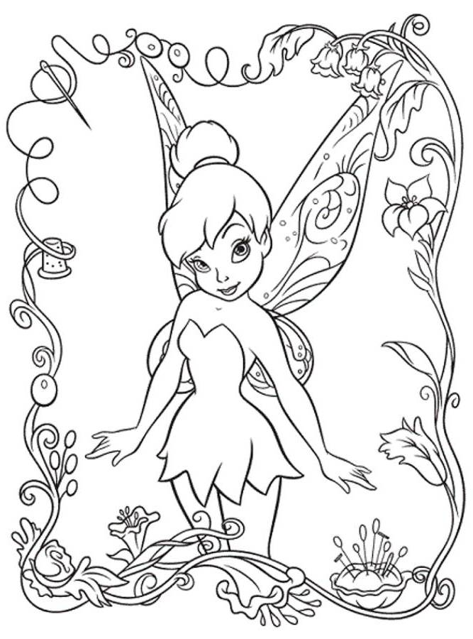 tinkerbell coloring pages kids - photo#34