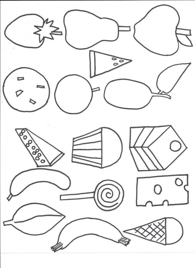 Very Hungry Caterpillar Coloring Pages - Coloring Home