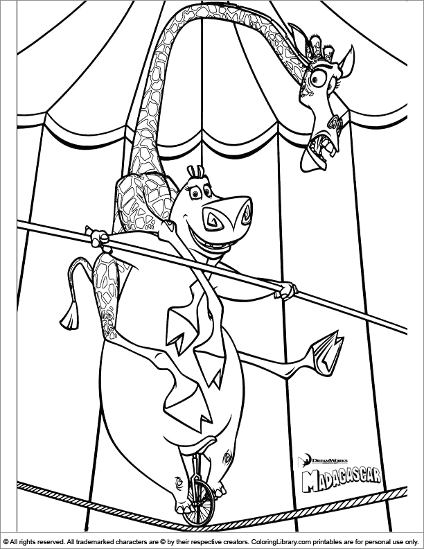 Madagascar coloring pages coloring home for Madagascar coloring pages printable