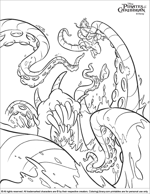 coloring pages pirates of caribbean - photo#47