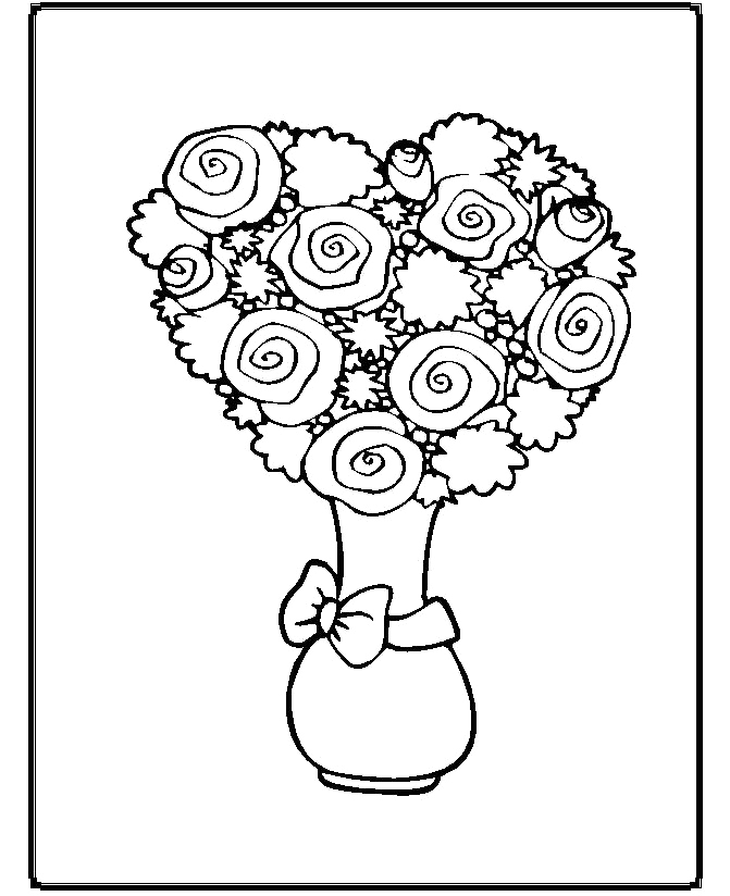 Coloring Pages Unique : Beatifull flower and unique coloring page