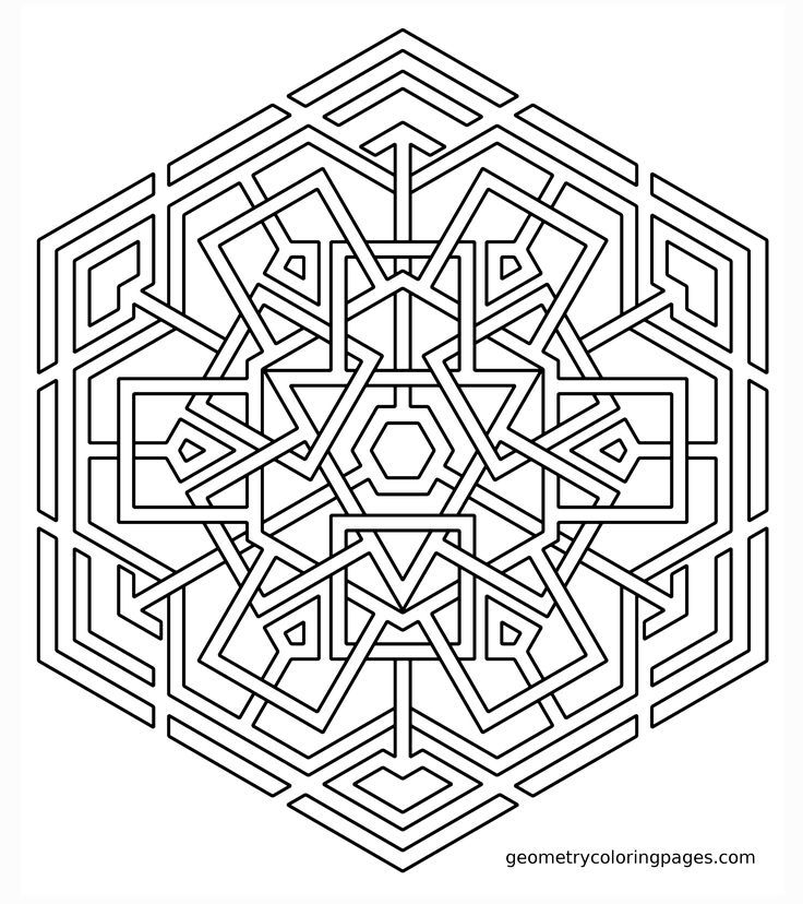 printable geomatric coloring pages - photo#28