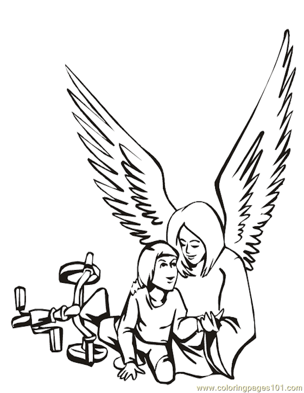 Angel Coloring Pages Pdf : Coloring pages angels other gt religions free