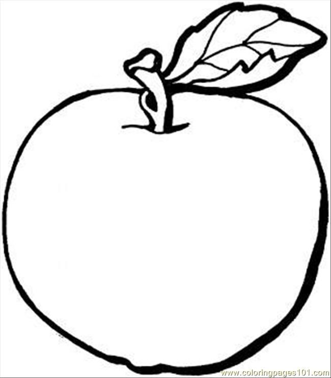 Apple coloring pages for preschoolers az coloring pages for Apple coloring pages