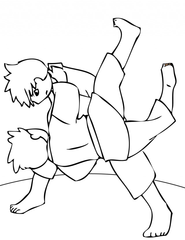 Boxing Judo Karate Coloring Pages Page 15 Images 200386