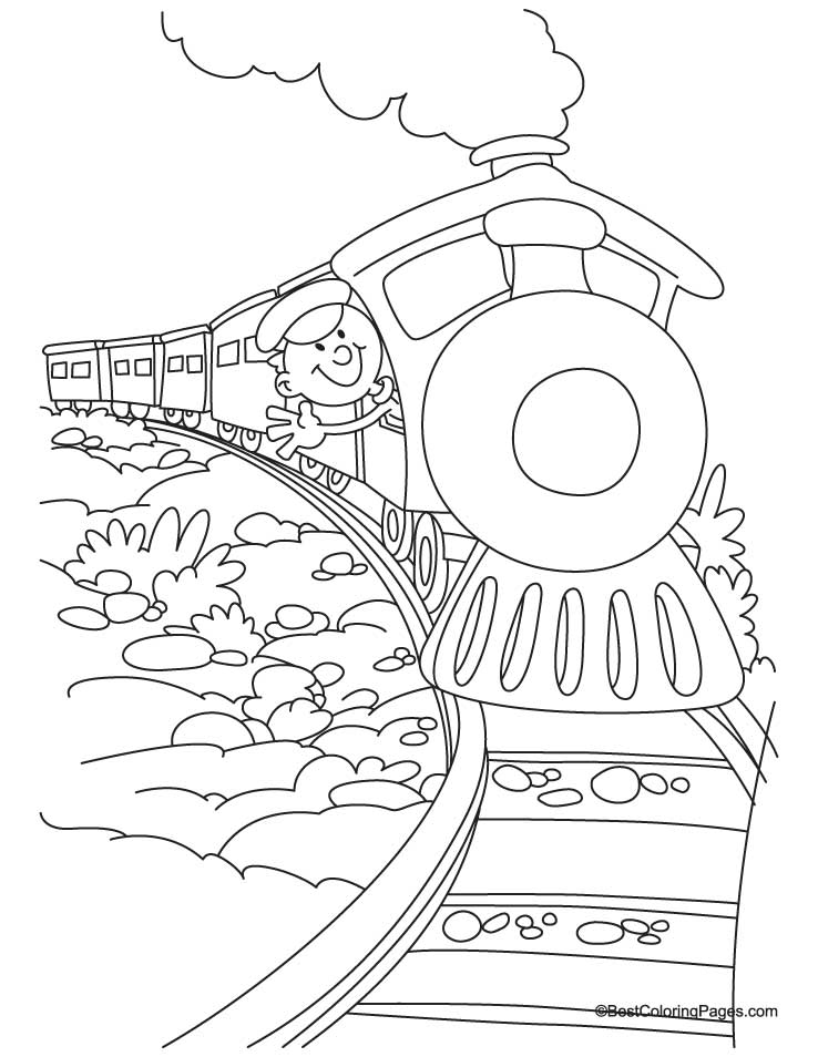 Polar express train coloring pages coloring home for Santa train coloring page