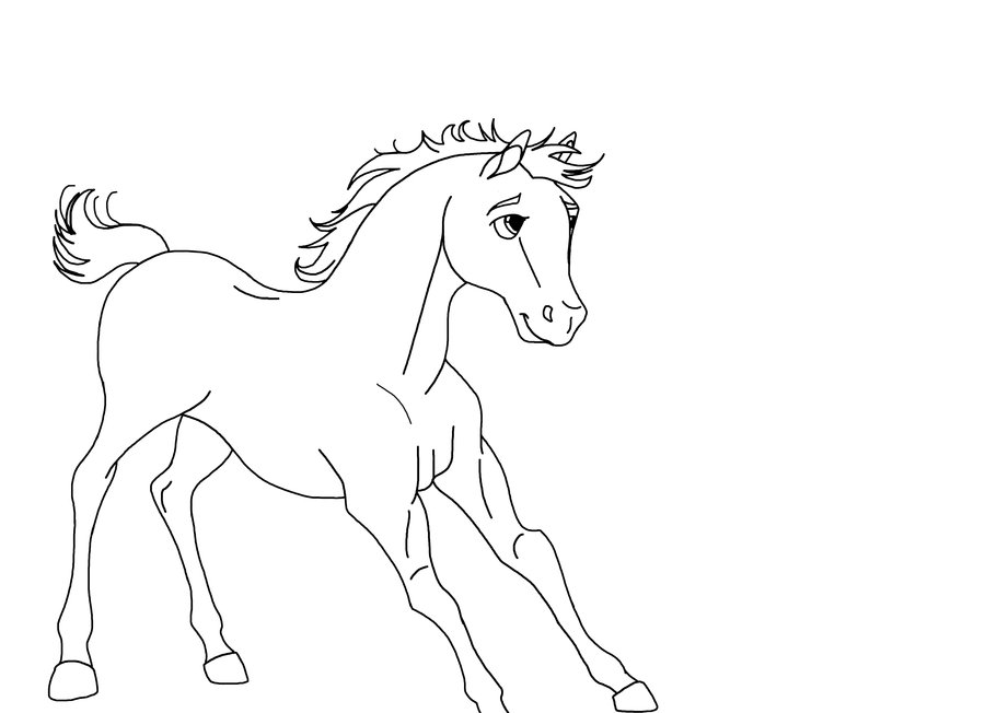 Free rain the stallion coloring pages