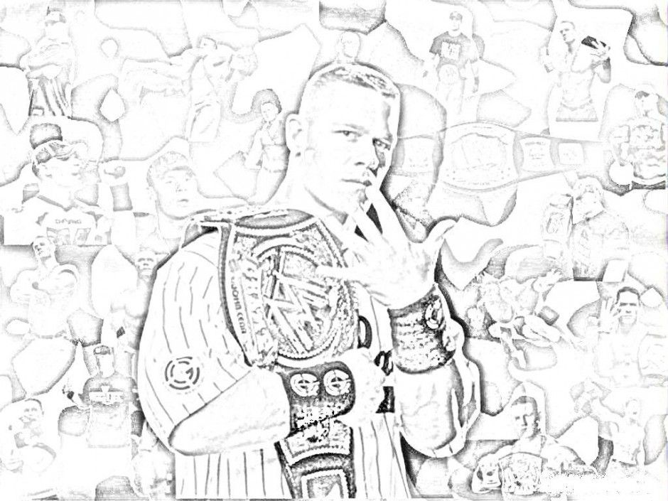 printable john cena coloring pages - photo#30