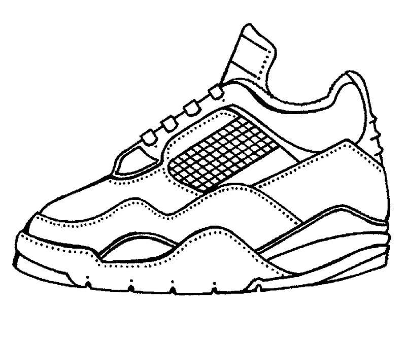 Tennis Sneakers, free coloring pages | Coloring Pages