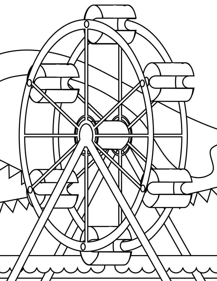 Ferris wheel coloring pages az coloring pages for Wheel coloring page