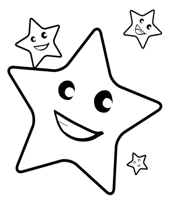 Coloring pages of stars coloring home for Christmas star coloring page