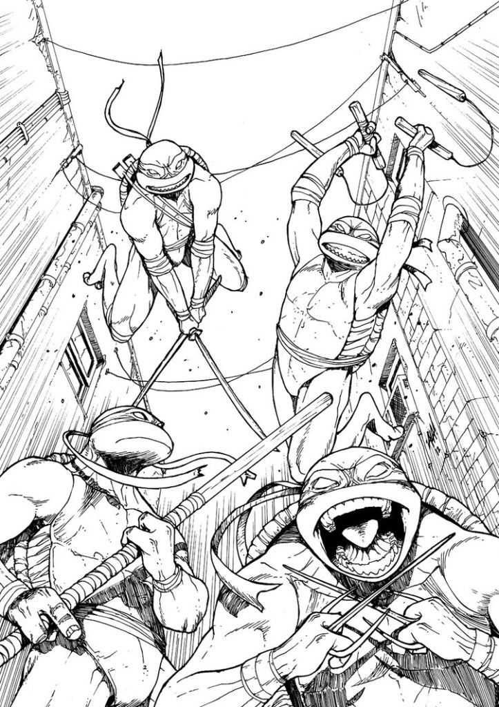 nickelodeon tmnt coloring pages - photo#16