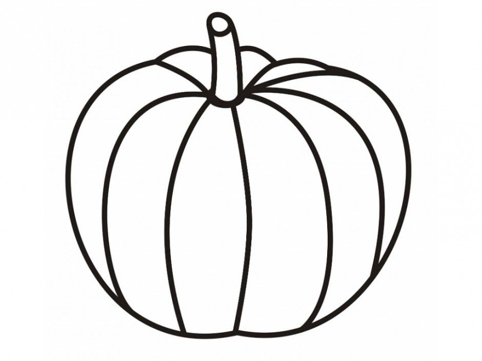 Halloween Crafts For Kids Plain Pumpkin Coloring Pages ...