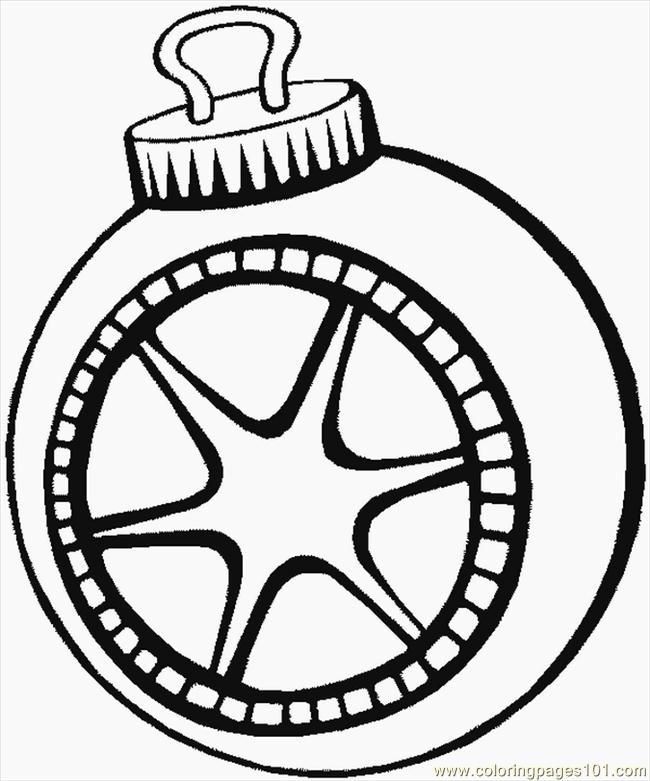 Christmas Tree Ornaments Coloring Pages Coloring Home Tree Decorations Coloring Pages