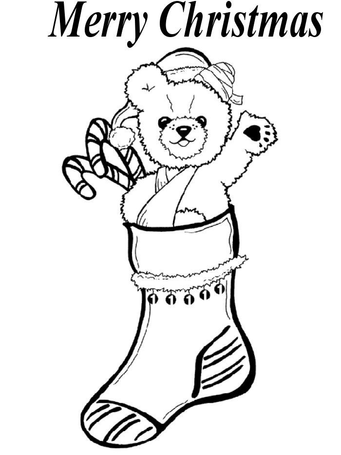 coloring pages of christmas stockings az coloring pages