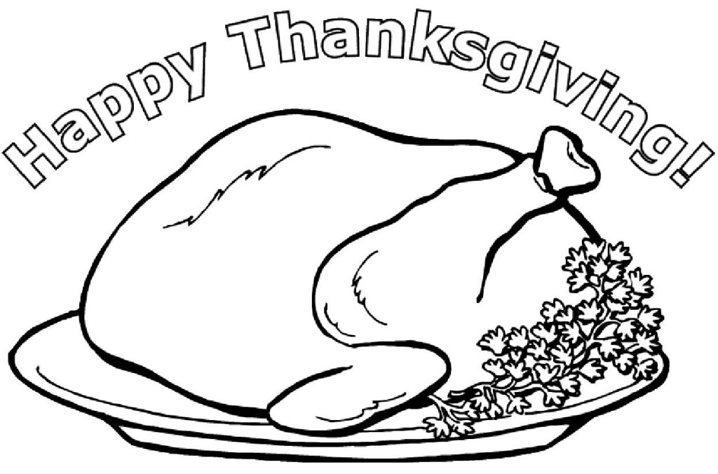 Cooked turkey drawing for Cooked turkey coloring pages