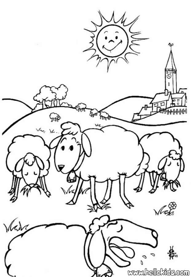 Sheep Coloring Pages - Coloring Home