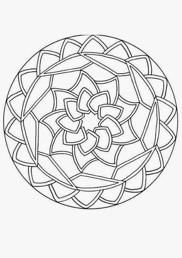 Easy Geometric Coloring Pages - Coloring Home