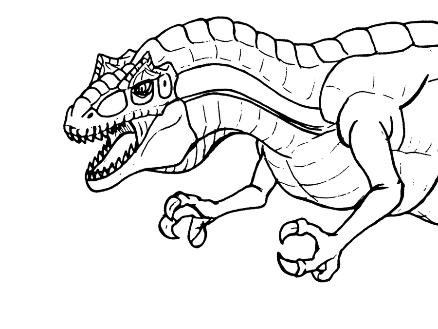 allosaurus coloring pages - photo#16