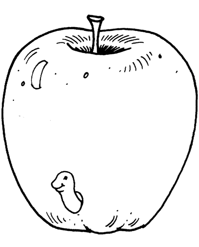 Galerry red fruit coloring pages