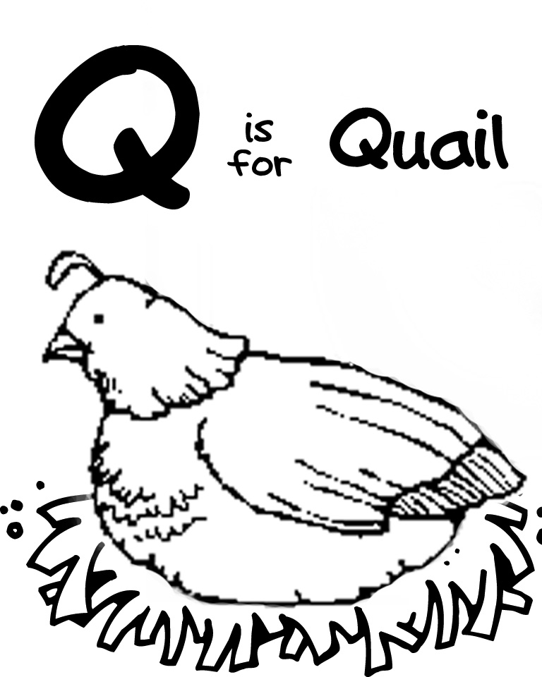 q coloring pages for kids - photo #33