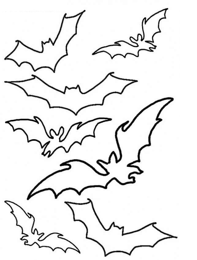 Bat Template For Kids  Coloring Home