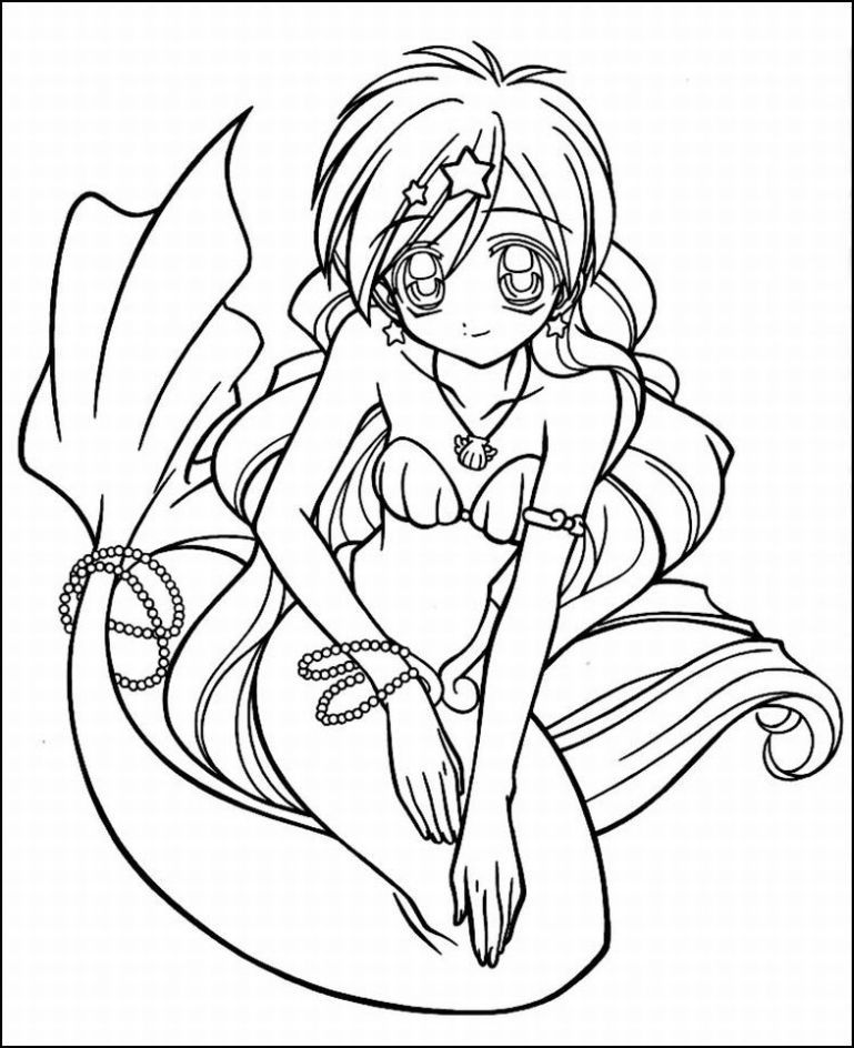 Coloring Pages Of Anime Coloring Home