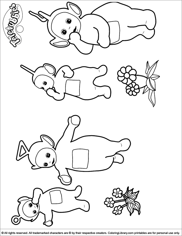 Teletubbies coloring picture