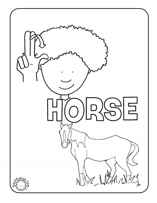 l asl coloring pages - photo #12
