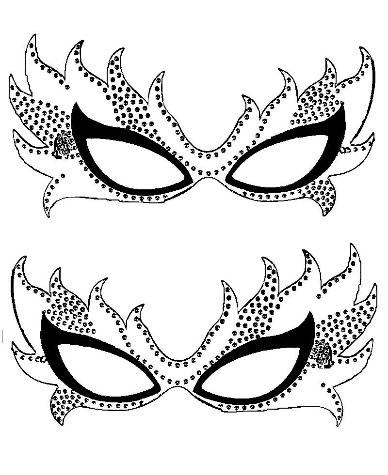coloring pages of masks - photo#17