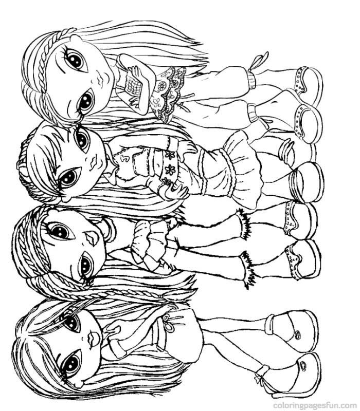 baby bratz free coloring pages - photo #29