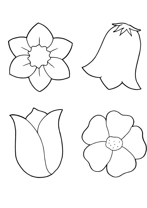Flower Printout Coloring Pages