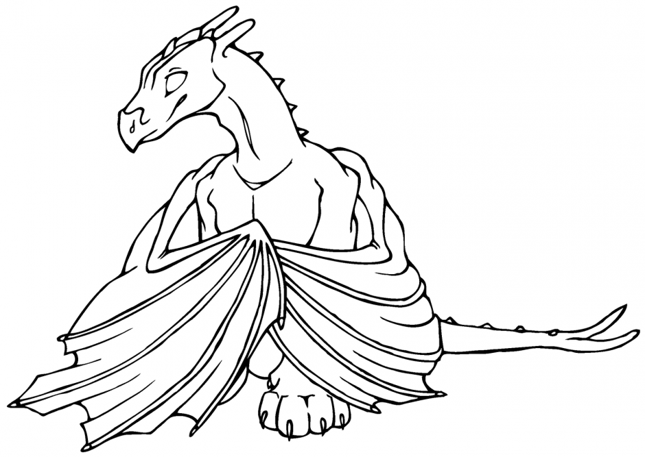Scary Dragon Coloring Pages Coloring Book Area Best Source
