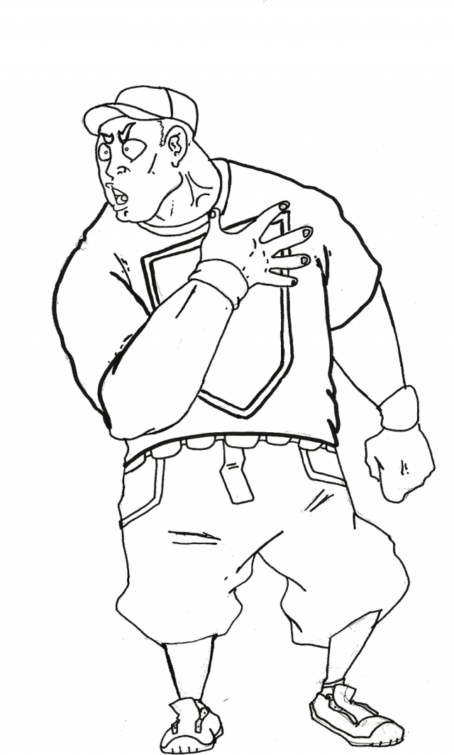 Wrestling Coloring Pages Printable