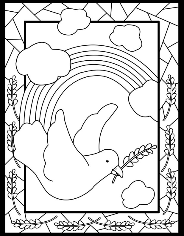 peace free coloring pages - photo#29