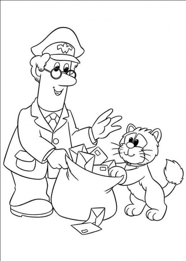 mailman coloring pages - photo#13