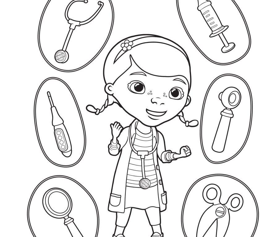kids coloring pages doctor kit - photo#16