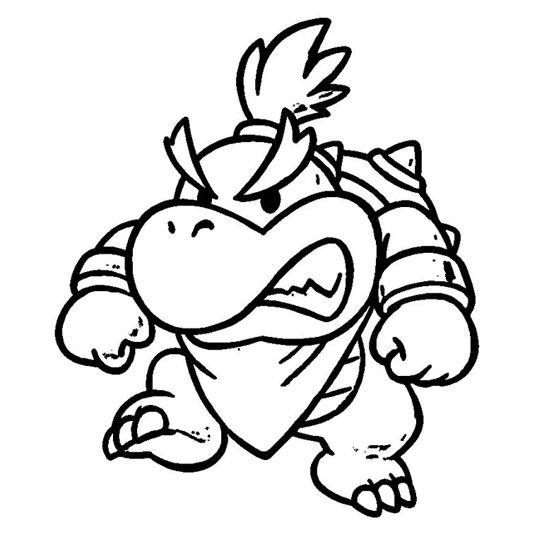 Bowser jr Coloring Pages Printable Coloring Pages of Bebé Bowser