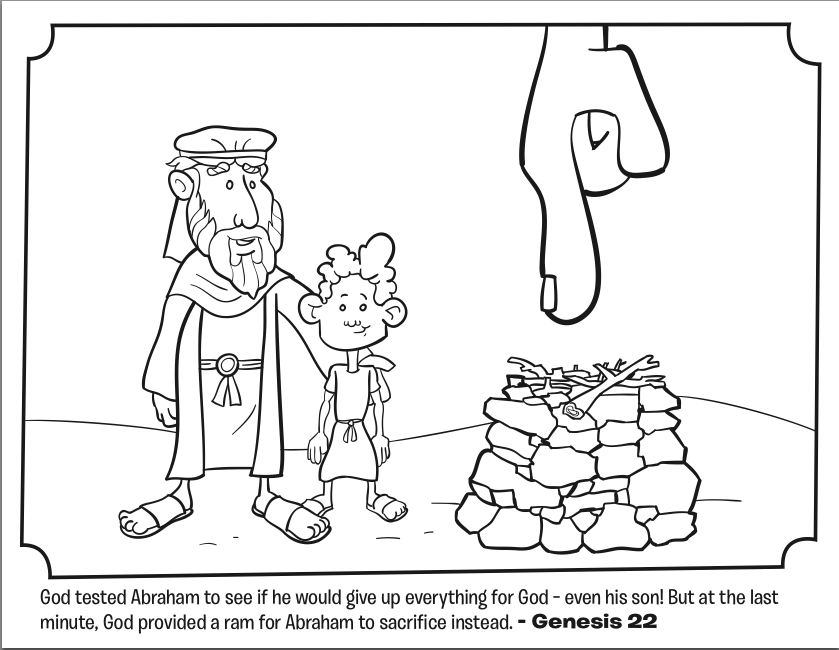 abraham sarah isaac coloring pages - photo#31
