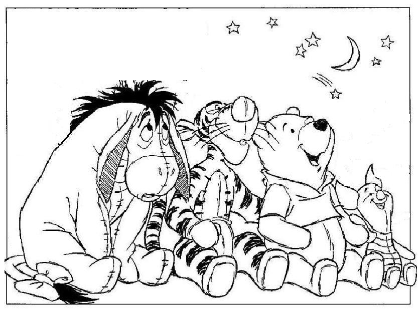 pooh bear coloring pages free coloring pages for kidsfree