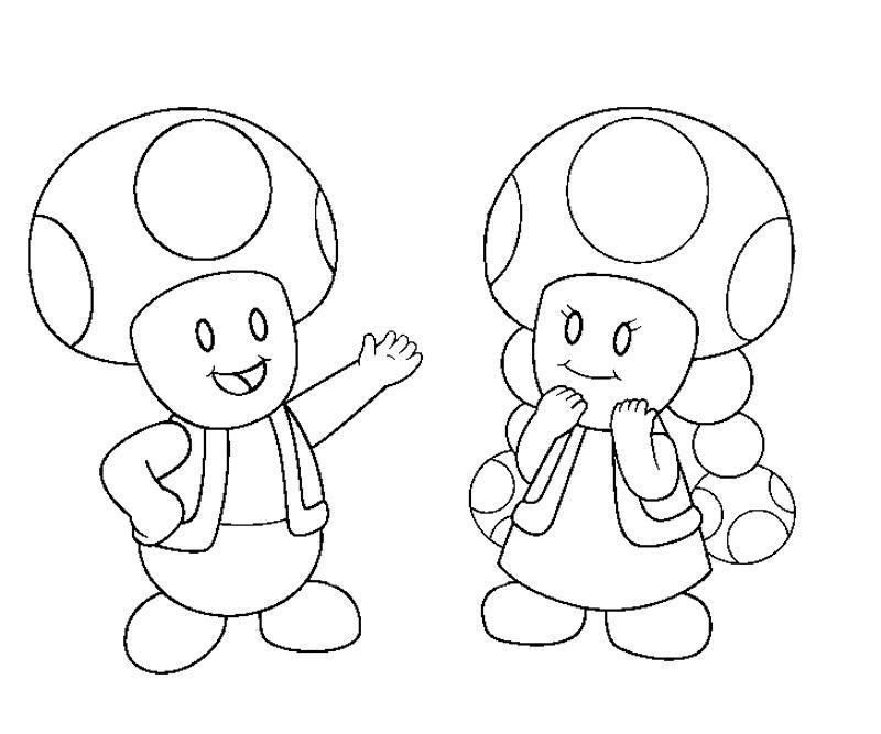 Toad Mario Coloring Pages Coloring Home Toad Mario Coloring Pages