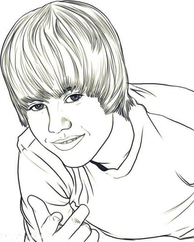 Justin Bieber Coloring Coloring Pages Hello Kitty Coloring Pages