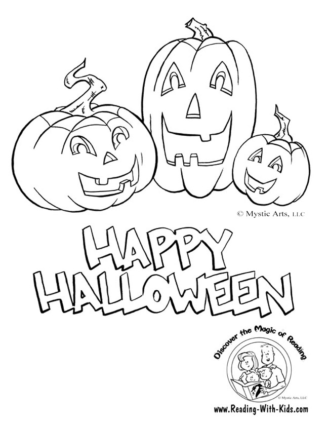 Halloween Coloring Pages For Preschoolers Free : Free halloween coloring pages for kids child and