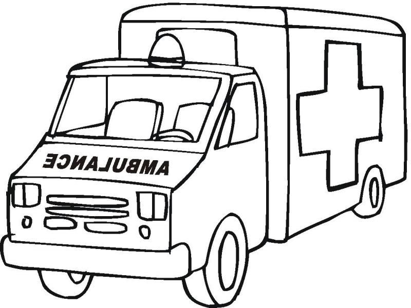 Ambulance Coloring Page Coloring Home Ambulance Colouring Pages