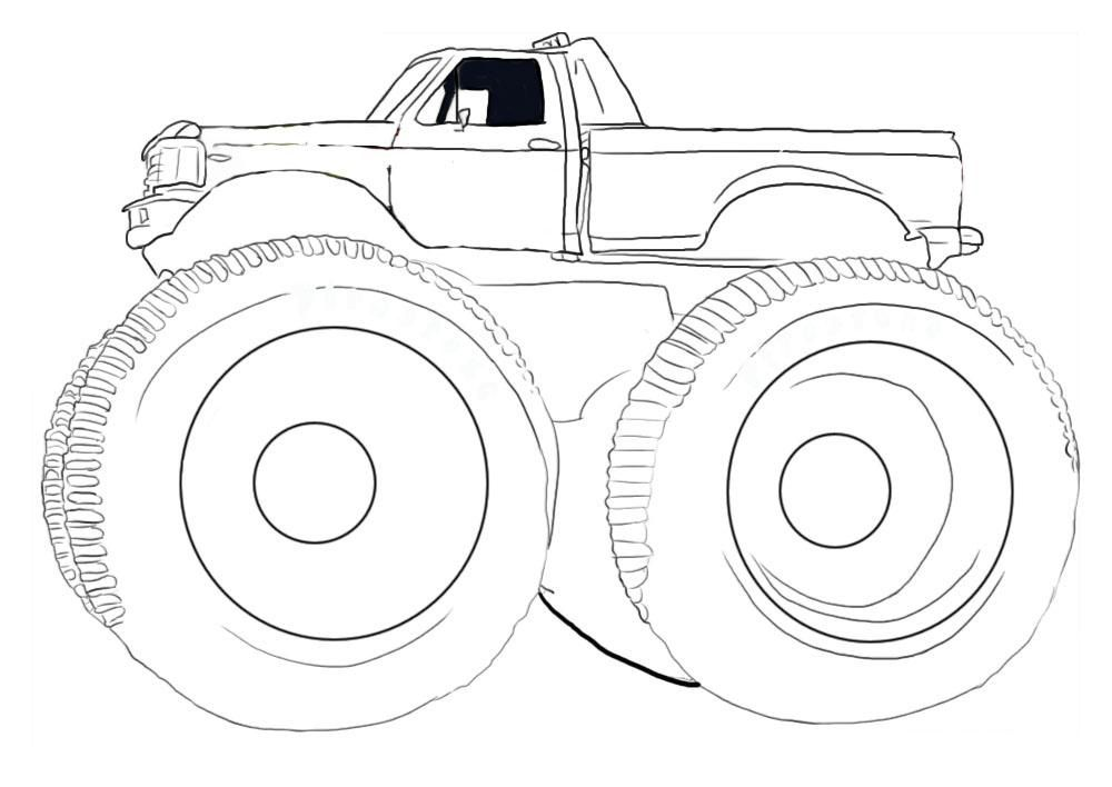 Grave Digger Coloring Page Coloring